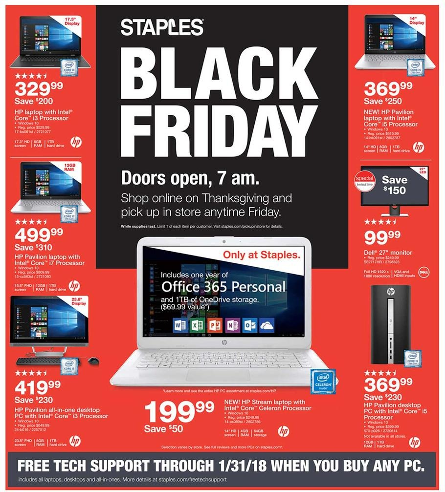 Staples Black Friday page 1