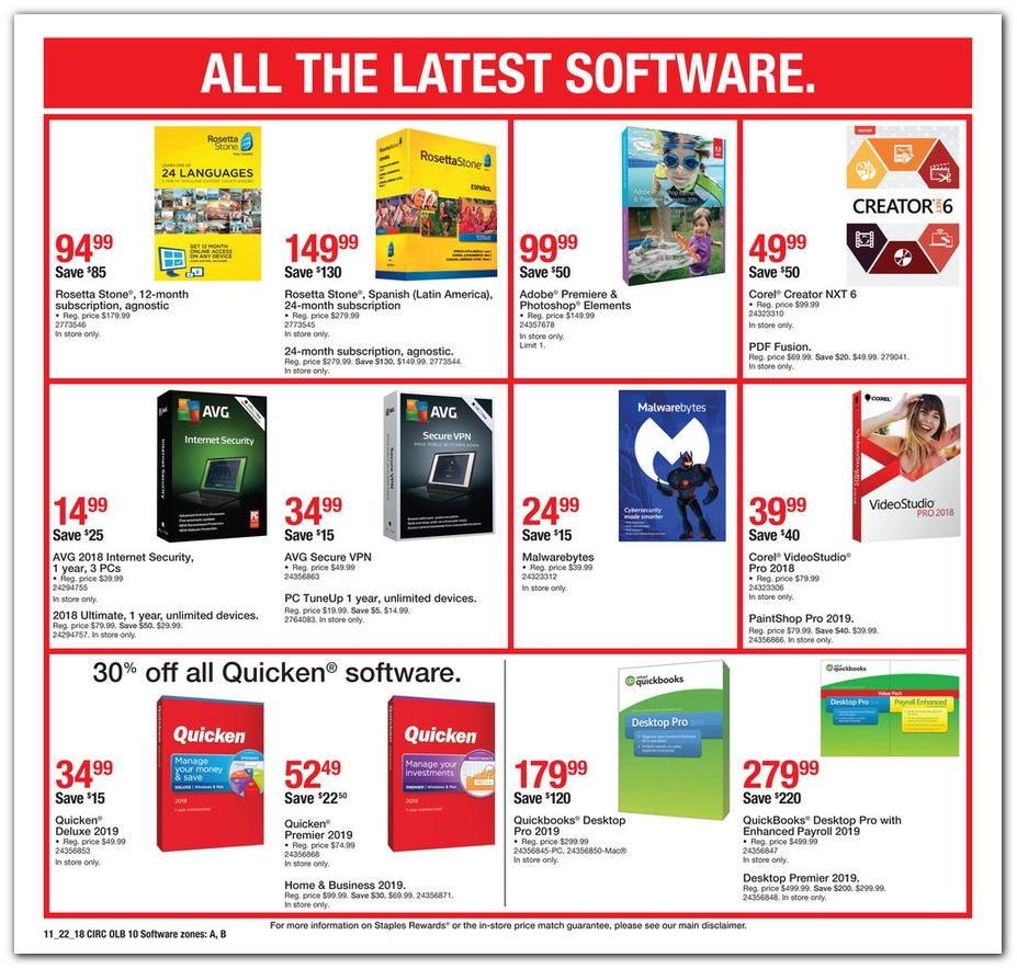 Staples Black Friday page 18